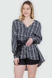 Mur L/s Plaid Top - Product Mini Image