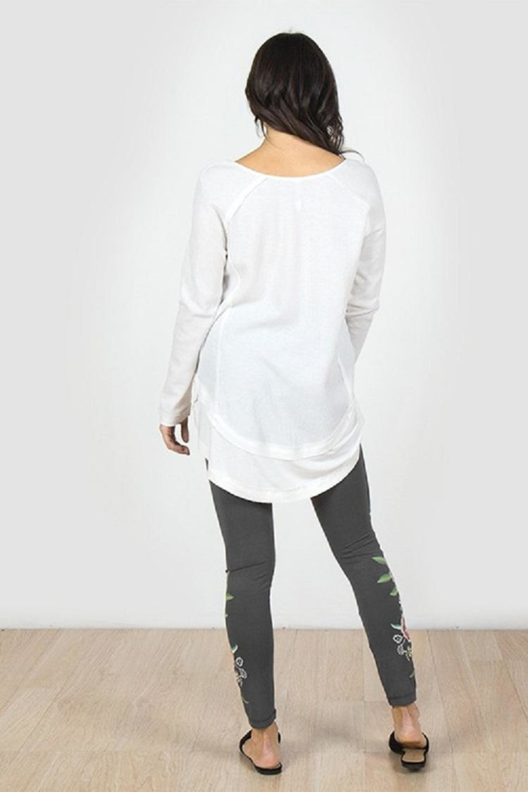 Mur L/s Rawedge Top - Front Full Image