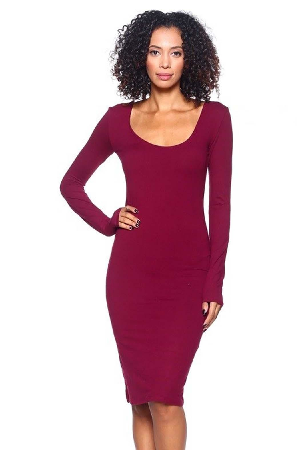 Capella Apparel L/s Scoop Dress - Front Cropped Image