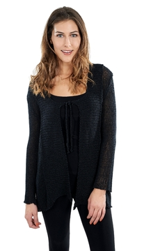B&K moda L/s Tie-Front Cardigan - Product List Image