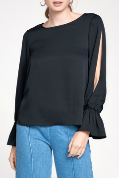 Shoptiques Product: L/S Top with sleeve ruffles