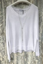 Tempo Paris L/S V Shimmer Top - Front cropped