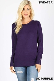 Zenana Outfitters L/s Vneck Top - Product Mini Image
