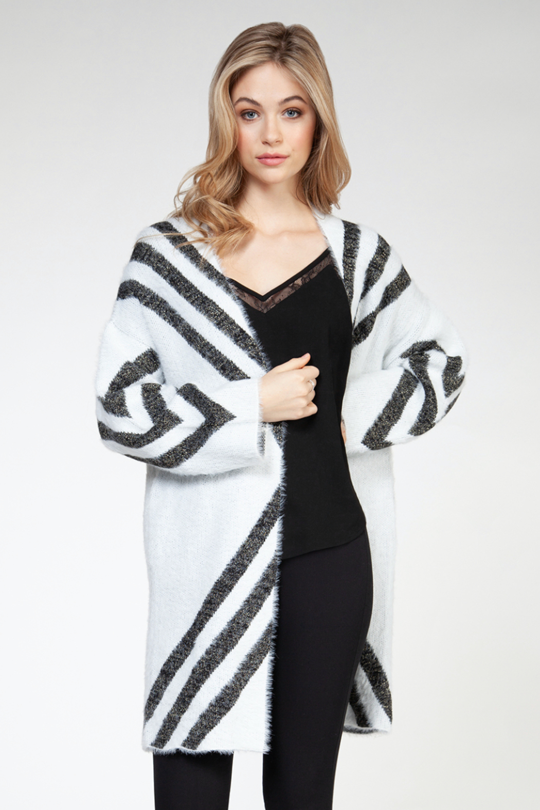 Dex L/SLV Eyelash Open Cardigan - Main Image