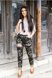 L & B Camo Sequin Pants - Product Mini Image