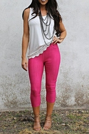 L & B Pink Capri Jeggings - Product Mini Image