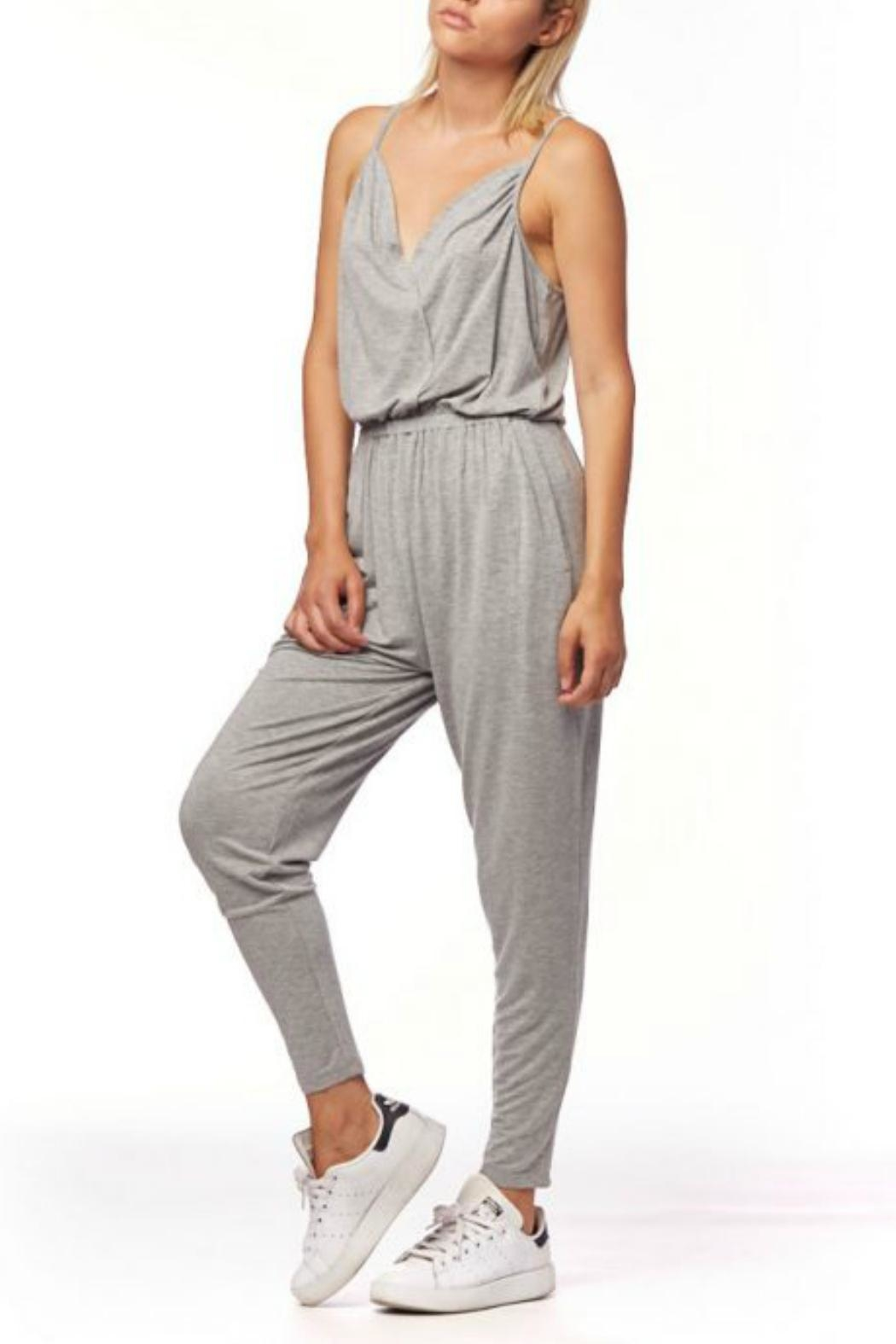 L Fashion Overload Cross Over Jumpsuit - Side Cropped Image