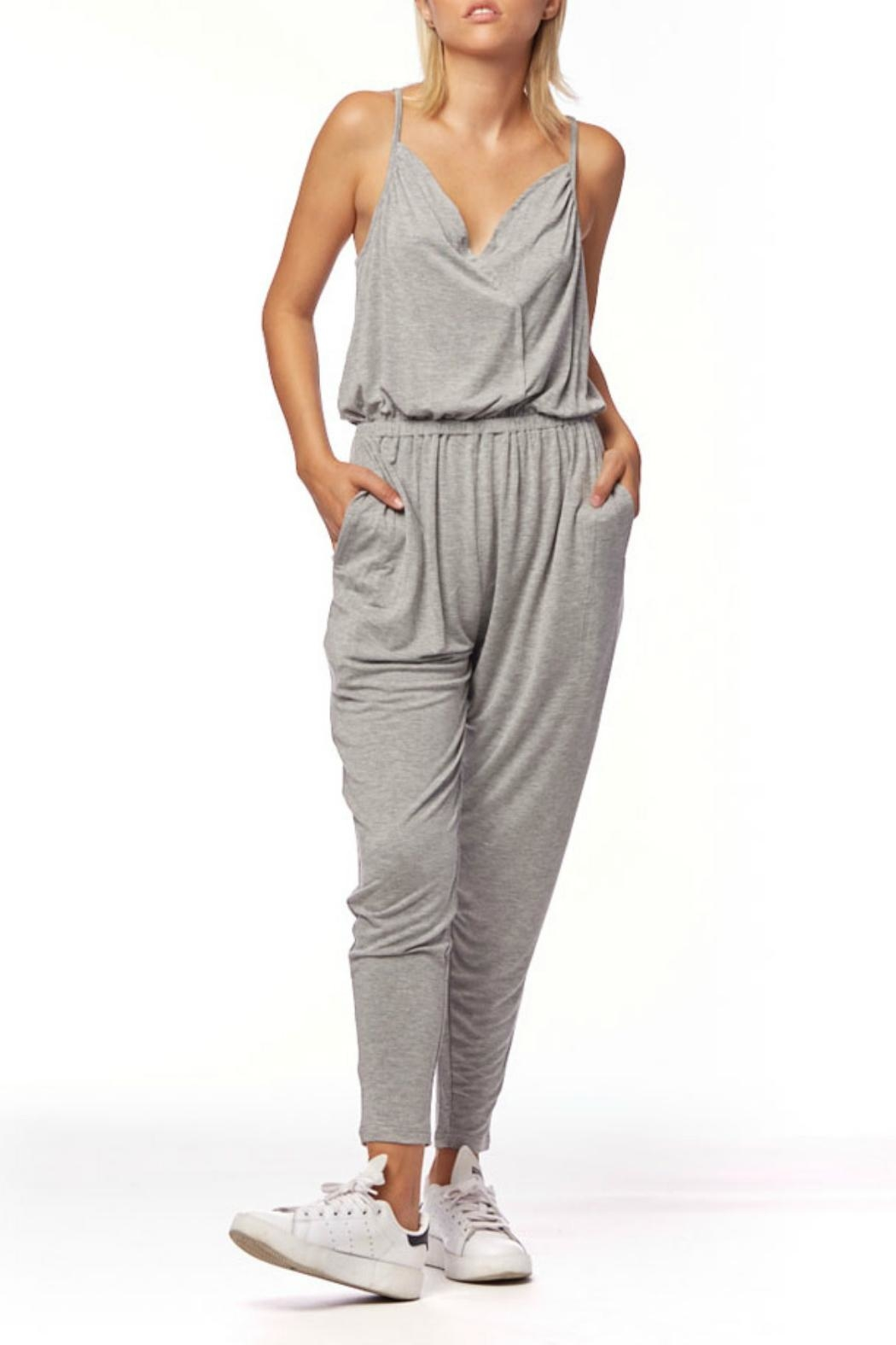 L Fashion Overload Cross Over Jumpsuit - Main Image