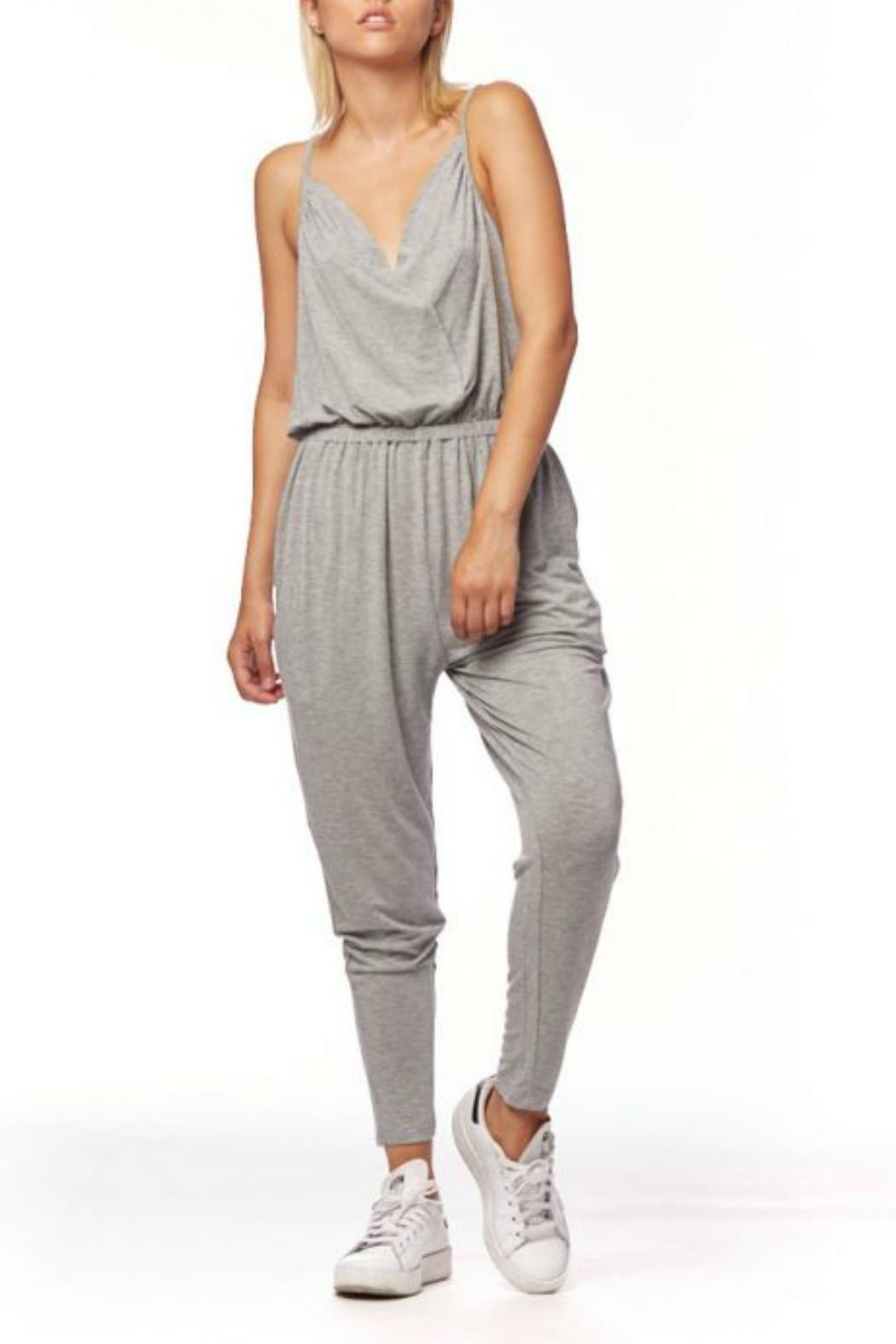 L Fashion Overload Cross Over Jumpsuit - Front Full Image