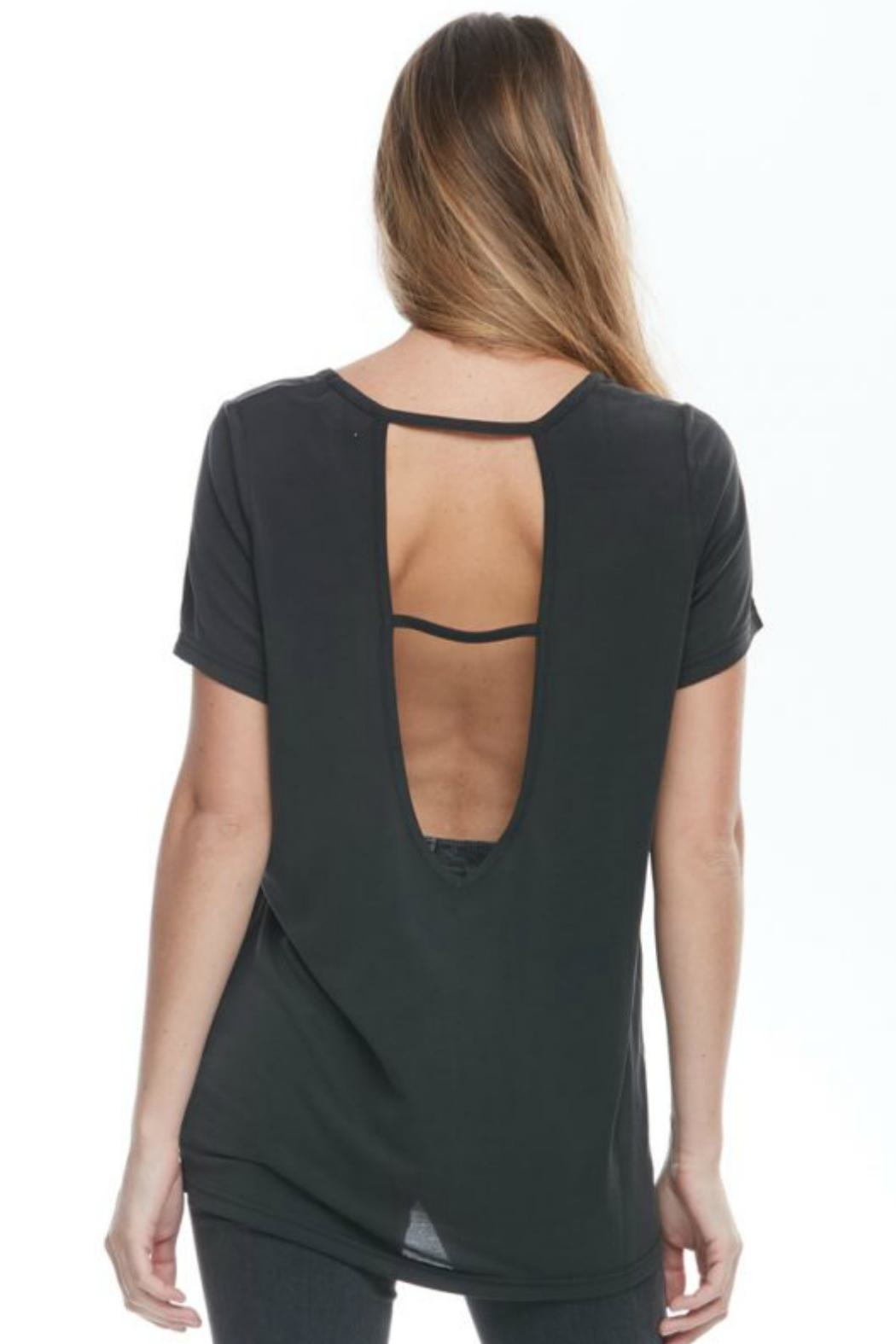 L Fashion Overload Open Back Top - Front Full Image