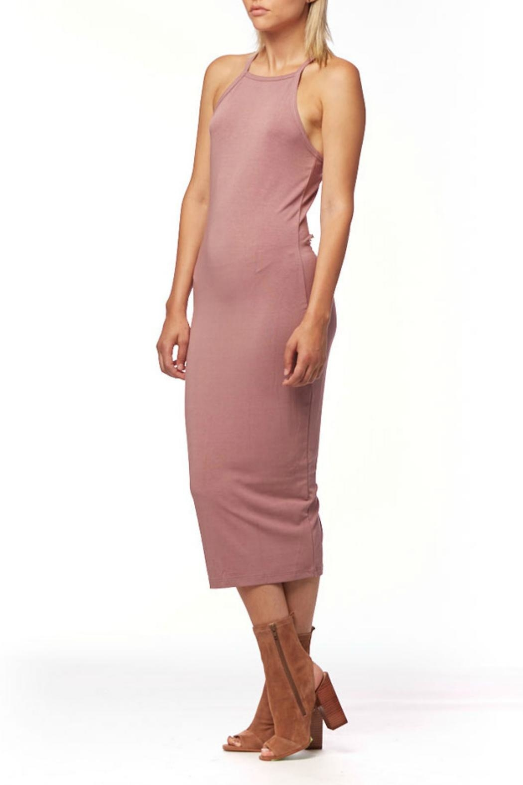 L Fashion Overload Tank Top Midi Dress - Back Cropped Image