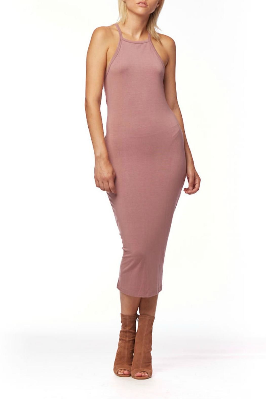 L Fashion Overload Tank Top Midi Dress - Front Cropped Image