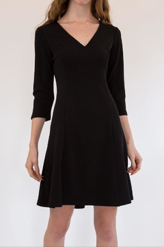 L Love Black V-Neck Fit And Flare - Product List Image