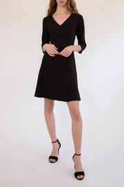 L Love Black V-Neck Fit And Flare - Front full body