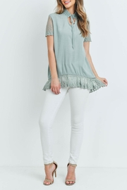L Love Sage Lace Top - Other