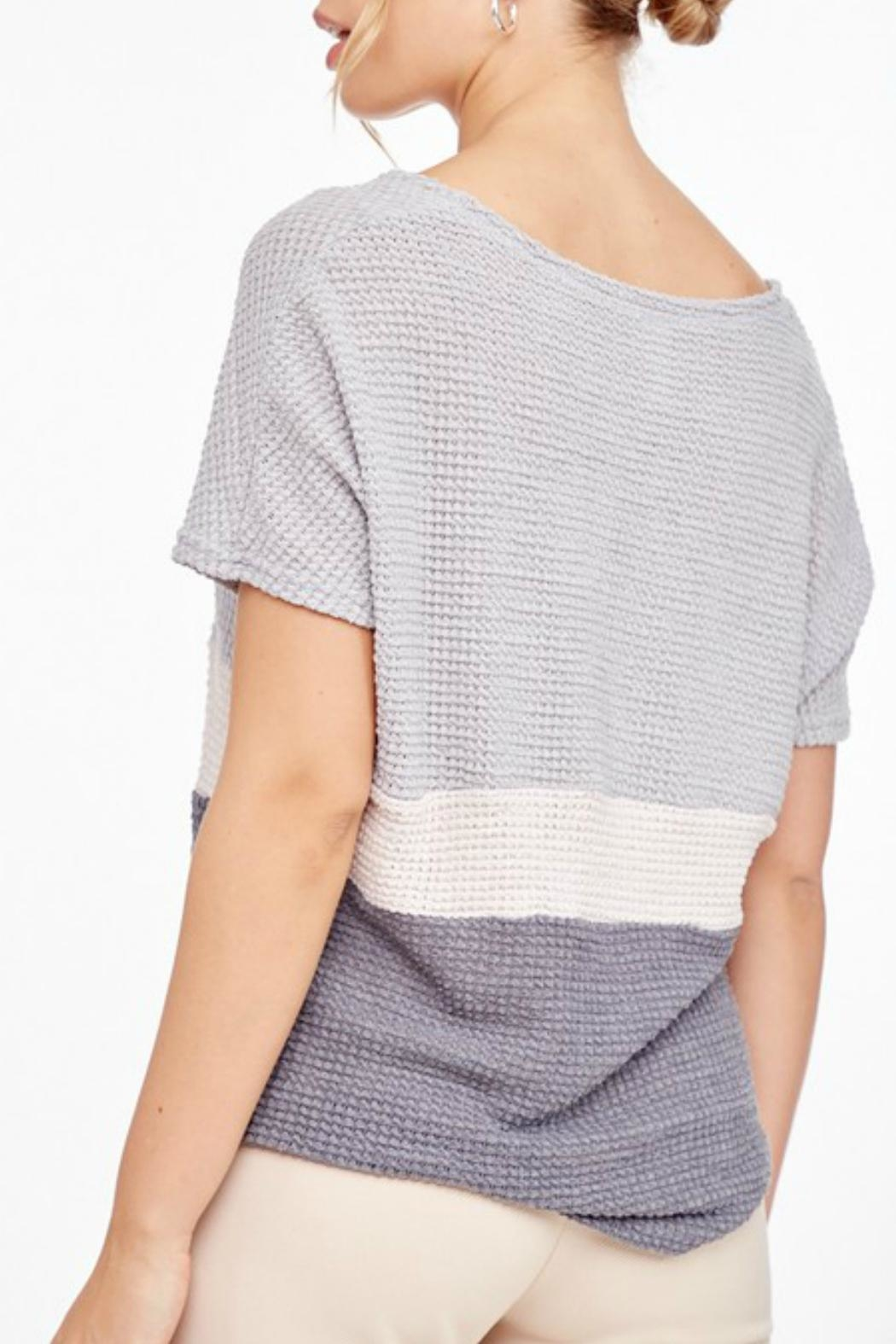 L Love Shortsleeve Knitted Top - Front Full Image