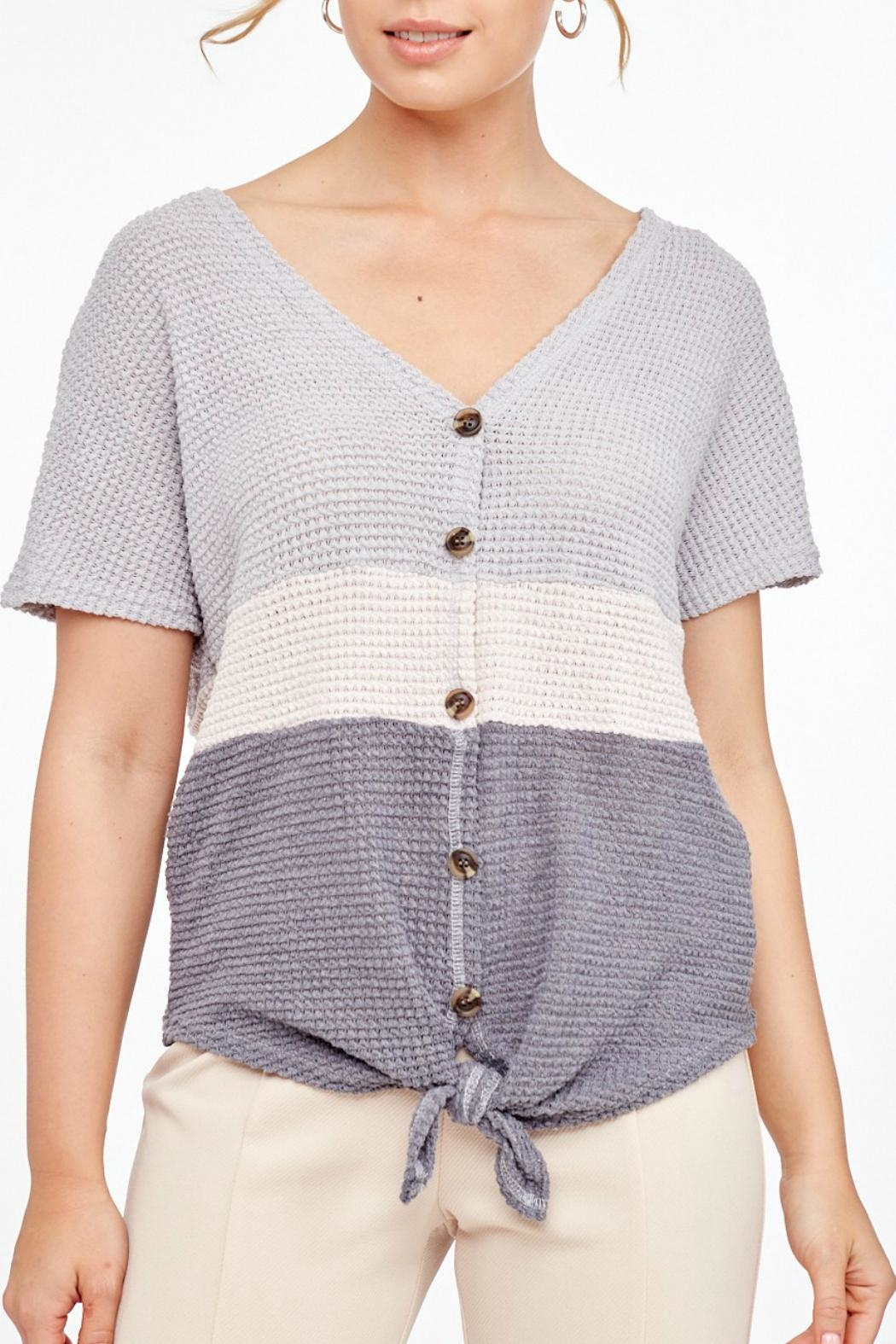 L Love Shortsleeve Knitted Top - Main Image