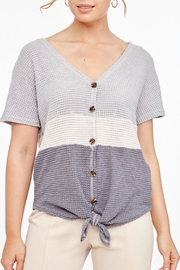 L Love Shortsleeve Knitted Top - Front cropped