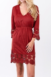 L Love Suede Crochet Dress - Product Mini Image