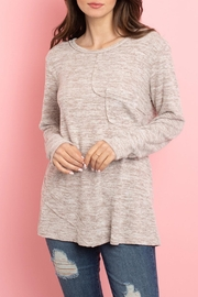 L Love Taupe Pocket Tunic - Product Mini Image