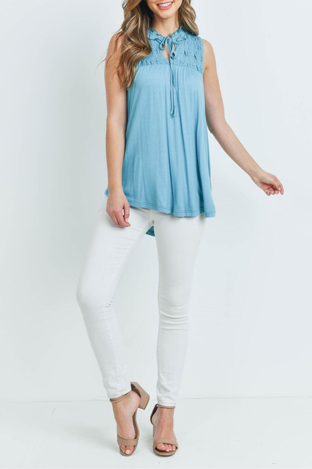 L Love Turquoise Top - Side Cropped Image