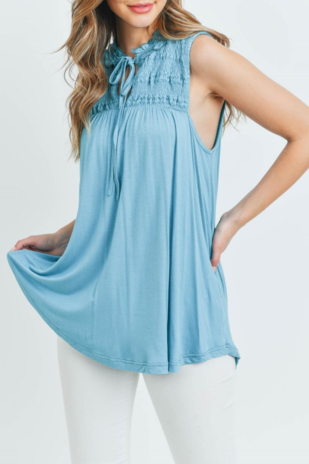 L Love Turquoise Top - Main Image