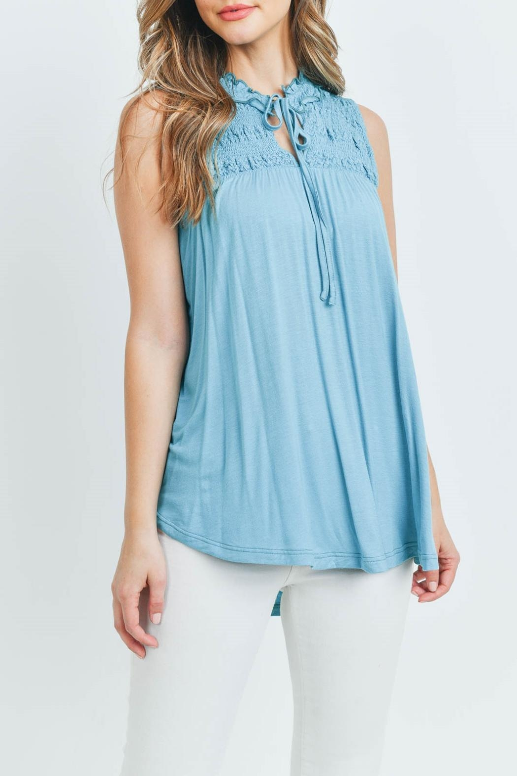 L Love Turquoise Top - Front Full Image