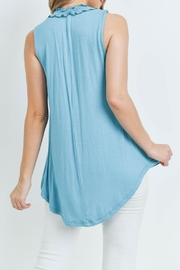L Love Turquoise Top - Back cropped