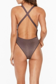 L SPACE Flash High Cut One Piece - Side cropped