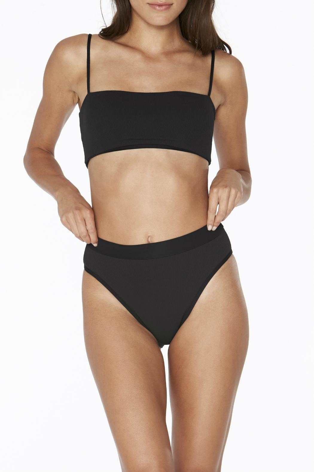 L SPACE Frenchi High Waist Bottom - Back Cropped Image