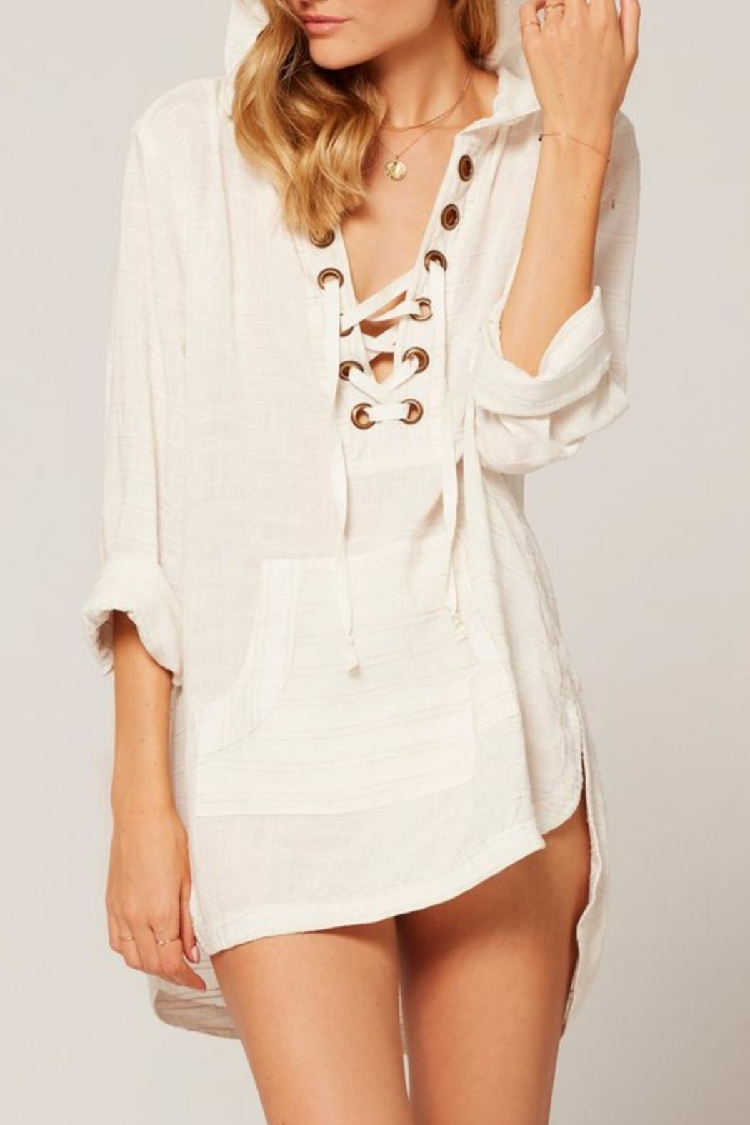 L SPACE Love Letters Tunic - Side Cropped Image