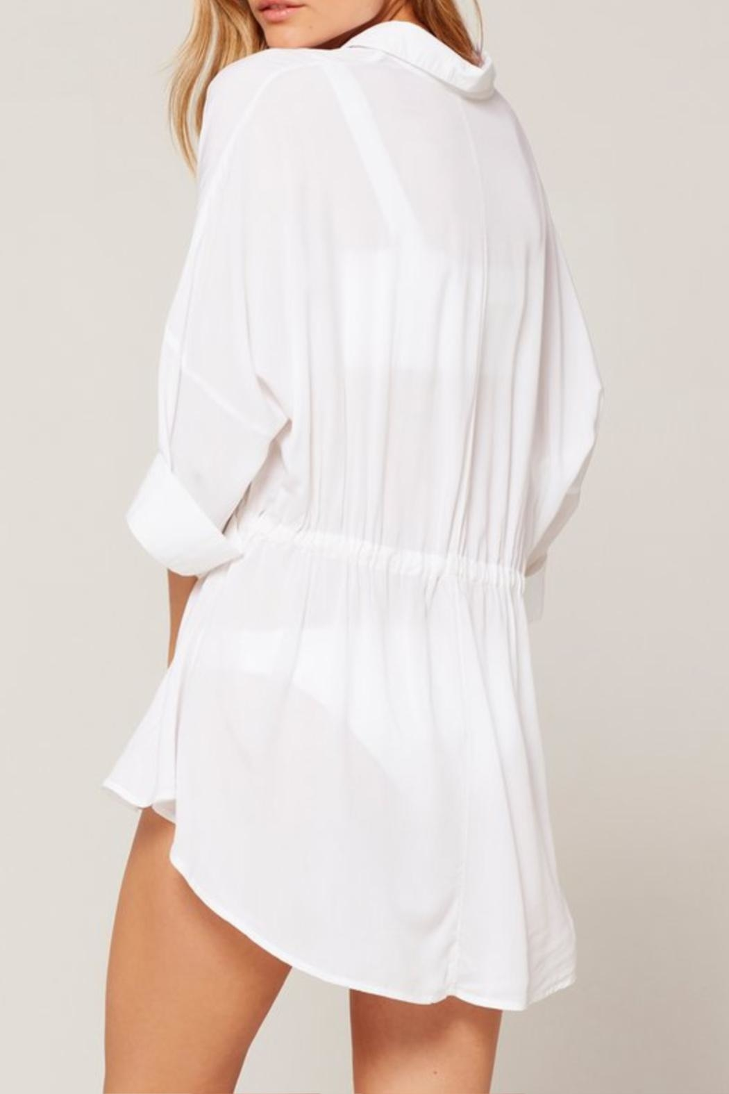 L SPACE Pacifica Button-Down Tunic - Side Cropped Image