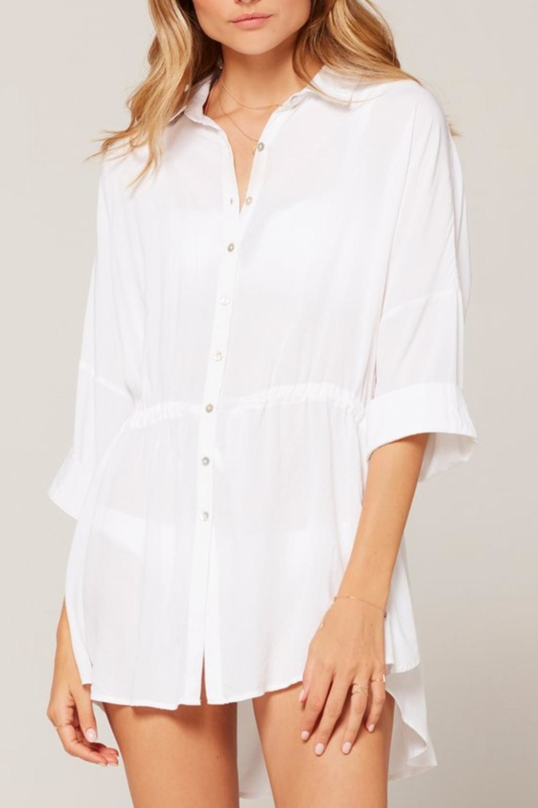 L SPACE Pacifica Button-Down Tunic - Front Cropped Image