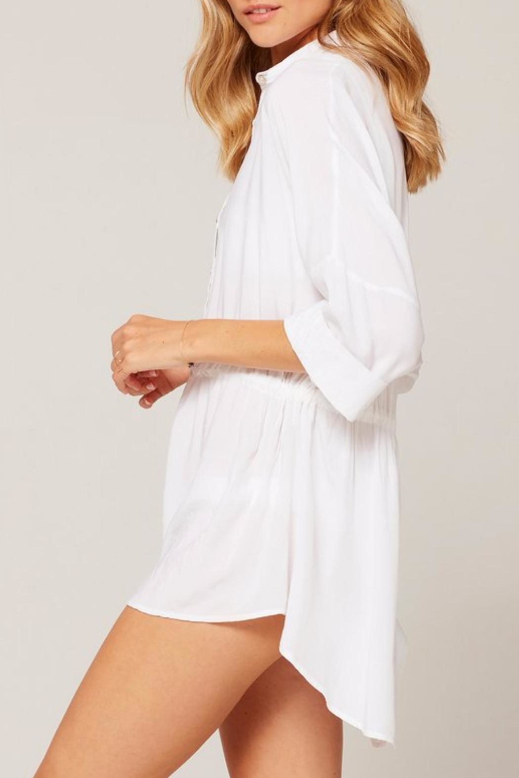 L SPACE Pacifica Button-Down Tunic - Back Cropped Image