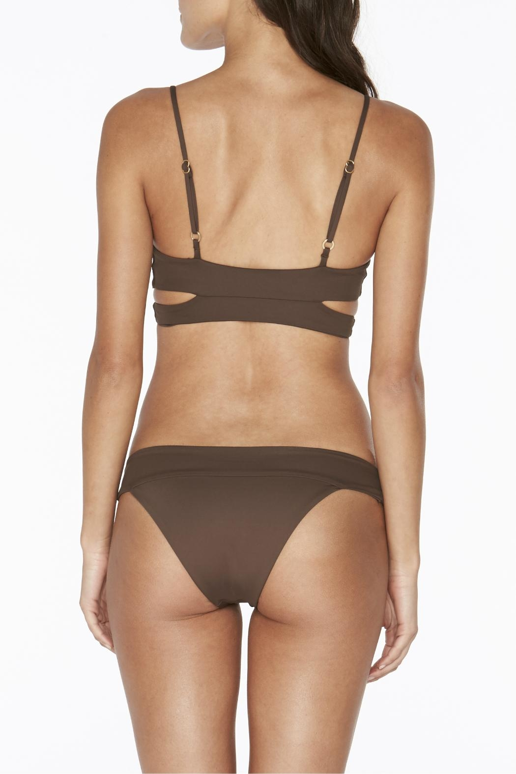 L SPACE Rocky Fixed Wrap Top - Front Full Image