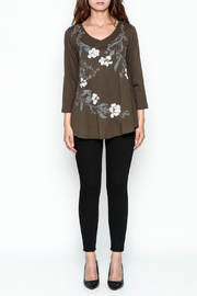 LA Blend Bronze Embroidered Top - Front full body