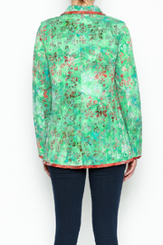 LA Blend Green Reversible Jacket - Back cropped