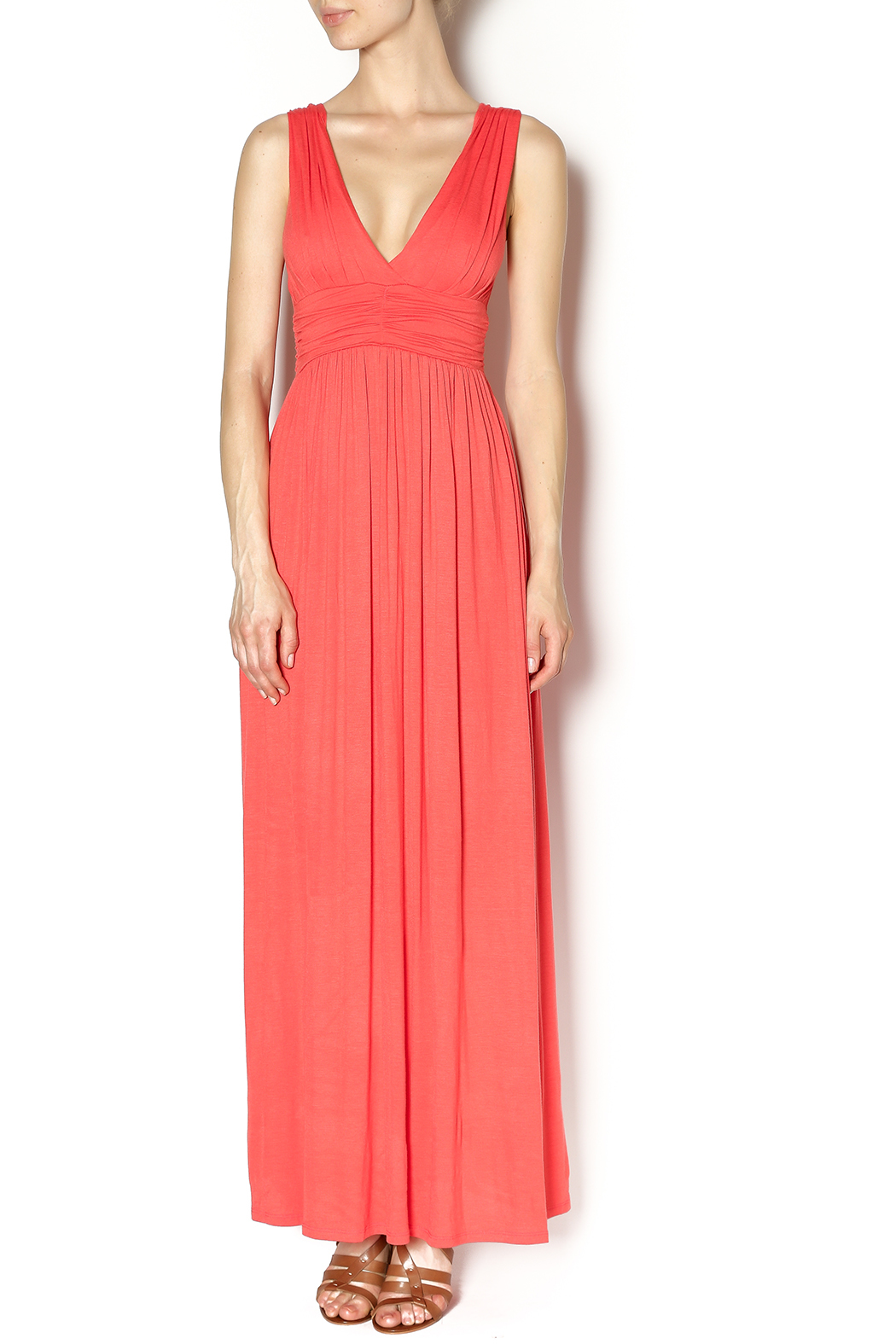 LA Class Grecian Maxi Dress - Front Cropped Image