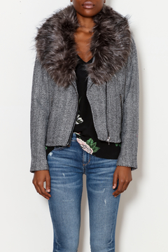 Shoptiques Product: Chevron Fur Jacket