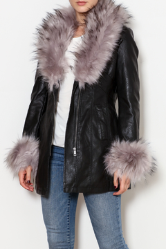 Shoptiques Product: Grey Fur Jacket