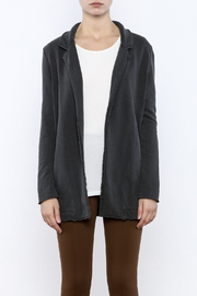 LA Made Charcoal Sweatshirt Blazer - Side cropped