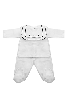 Shoptiques Product: La Mascot Baby Set with linen embroidered yoke