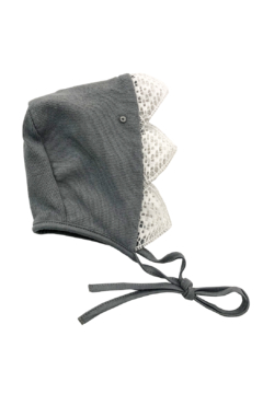 Shoptiques Product: La mascot Heirloom baby Lace edge knit bonnet