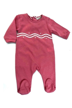 Shoptiques Product: LA MASCOT PINK SCALLOPED COTTON FOOTIE - MADE IN ITALY