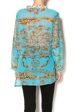 La Moda Sheer Print Tunic - Alternate List Image