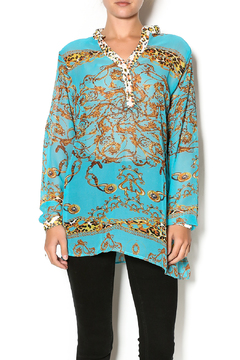 La Moda Sheer Print Tunic - Product List Image