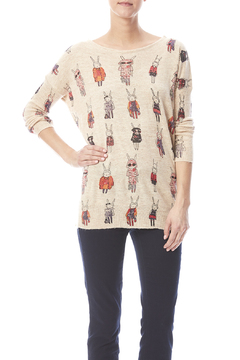 Shoptiques Product: Bunny Print Sweater