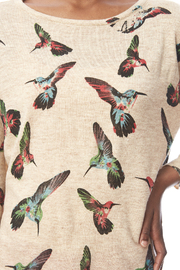LA Soul Hummingbird Print Sweater - Other