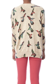 LA Soul Hummingbird Print Sweater - Back cropped