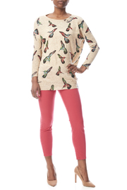 LA Soul Hummingbird Print Sweater - Front full body